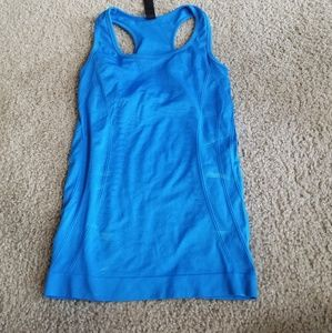 Blue Crunch Athletic tank top